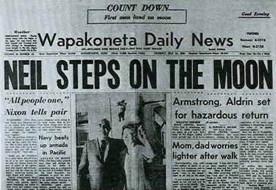 moon landing newspaper article - photo #19