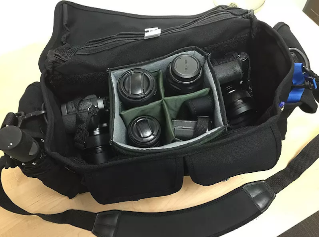 What's the safest, best camera position inside a camera bag?