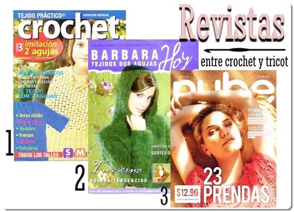 revistas, crochet, tricot, patrones ganchillo, tutoriales