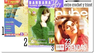 3 Revistas entre Crochet-Tricot con 46 patrones