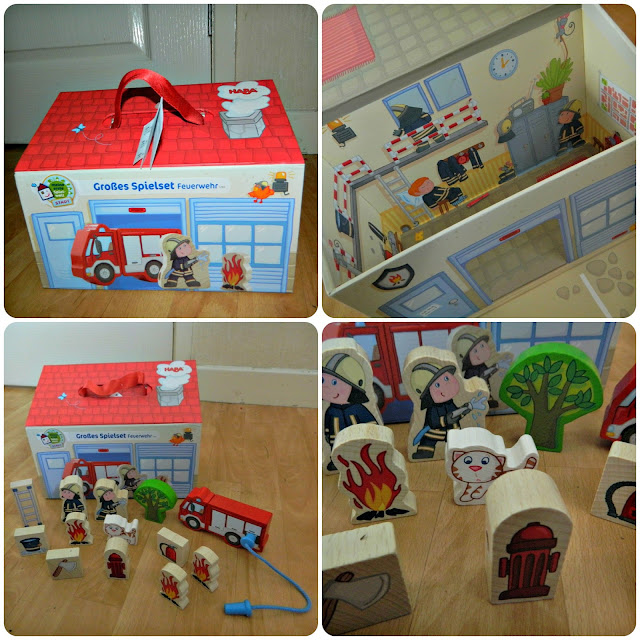 HABA My First World Fire Station Large Playset  Close up