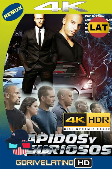 Rápidos y Furiosos 7 (2015) BDRemux 4K HDR Latino-Ingles MKV