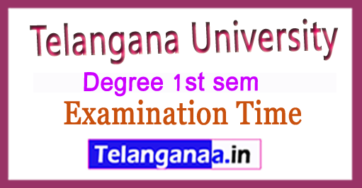 Telangana University TU Degree 1st sem Examination Time Table 2018