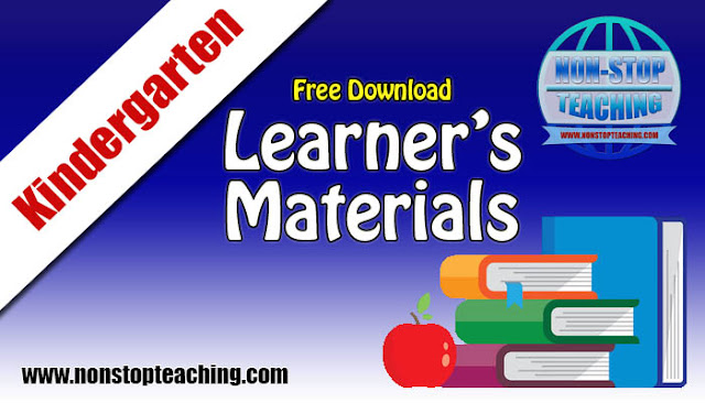 Kindergarten Learner's Materials