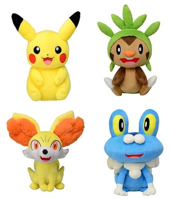 Pokemon Talky Plush Pikachu Chespin Fennekin Froakie Tomy