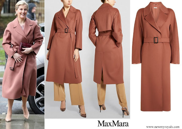 The Countess of Wessex wore MAX MARA Belted Wool Reus Coat