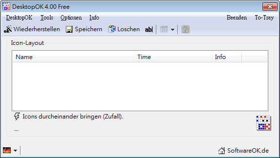 儲存桌面圖示排列 DesktopOK幫你搞定