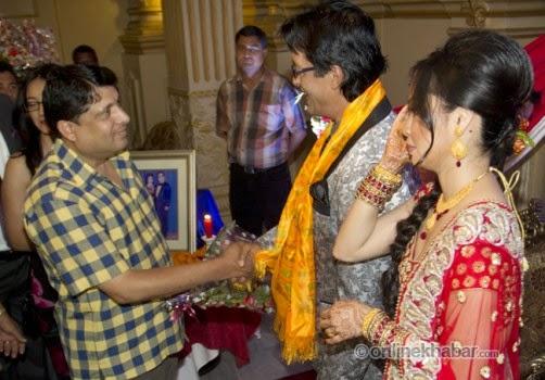 rajesh hamal and madhu bhattarai wedding, chabi ojha