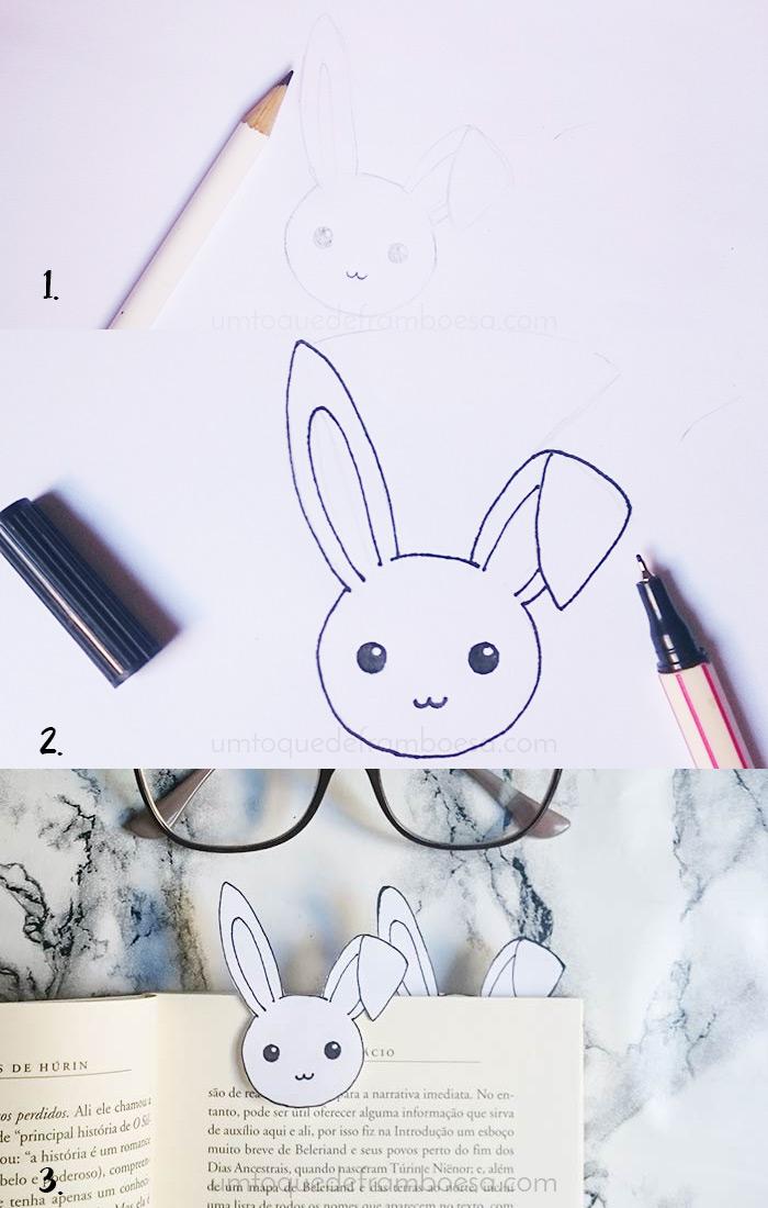 DIY: Como fazer marcador de páginas de coelhinho