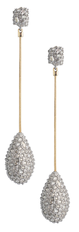 ALEXIS BITTAR Pave Teardrop Post Earring