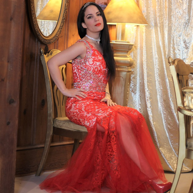 Grace Karin Red Lace Dress