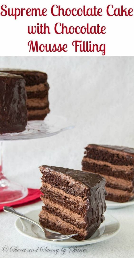 Supreme Chocolate Cake with Chocolate Mousse Filling #Dessertrecipes#Easydesserts#Cookierecipes#Icecream#Chocolate#Yummyfood#pie#Healthysnacks#Healthymeals#Healthyeating#Healthydessertrecipes#Healthyfoodrecipes#Nicecream #Dessertrecipes#Easydesserts#Cheesecakerecipes#Deliciousdesserts#Dessertvideos#Healthydessertrecipes#Healthyfood#Vegandessert#Healthycookies#Healthysweetsnacks#Paleodessert#Cakerecipes#Coffee#Healthydesserts#Dessertrecipeseasy#Chocolatemousserecipe#Chocolatecheesecake#Nobakecookies#Chocolatedesserts#Oreodessert#Easynobakedesserts #SupremeChocolateCakewithChocolateMousseFilling