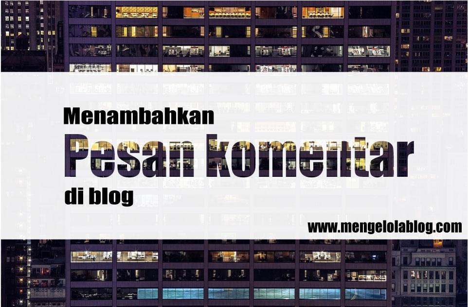 menambahkan pesan komentar di blog