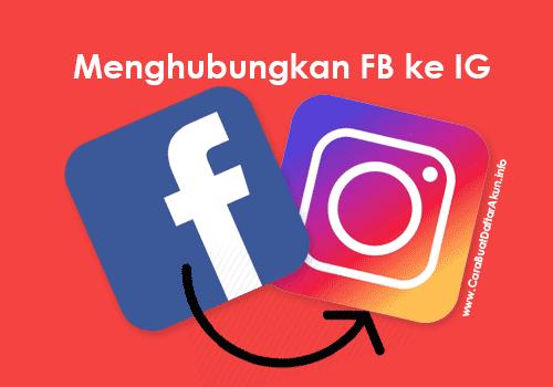 cara menghubungkan facebook dengan instagram