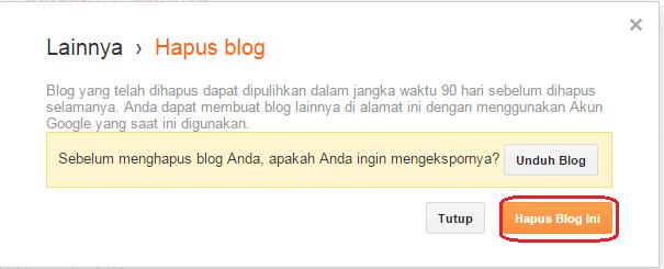 hapus blog