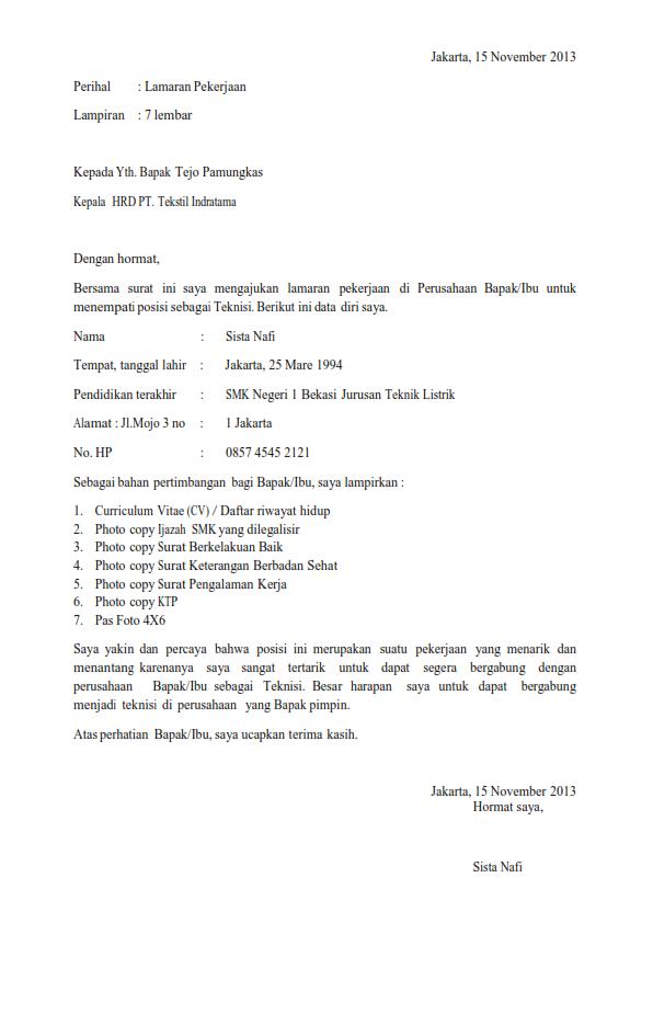 28 Contoh Surat Lamaran Kerja Lulusan Smk Jurusan Administrasi Perkantoran Kumpulan Contoh Gambar