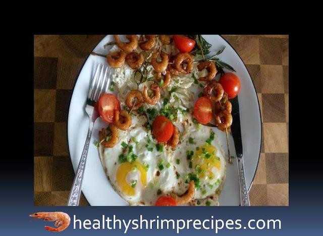 Shrimp and eggs breakfast recipe