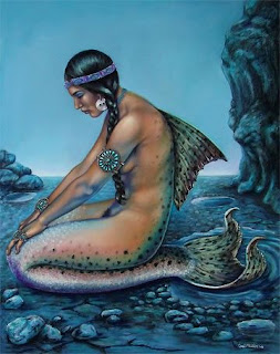 reminiscing indian maiden mermaid