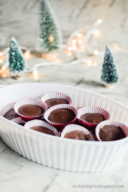 Chocolate Peanut Butter Cups by Orchard Girls Blog