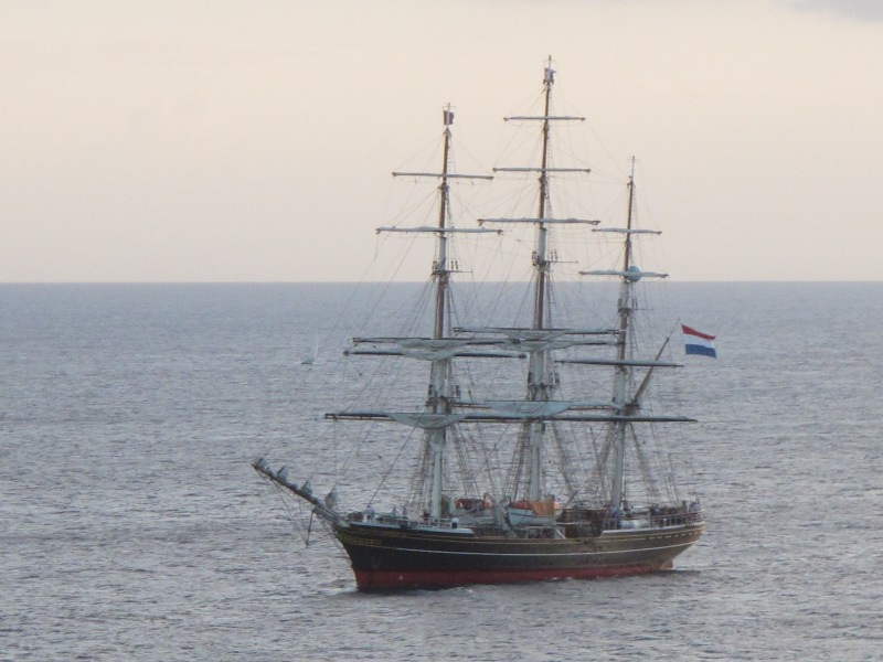 Sailing ship off St Kitts