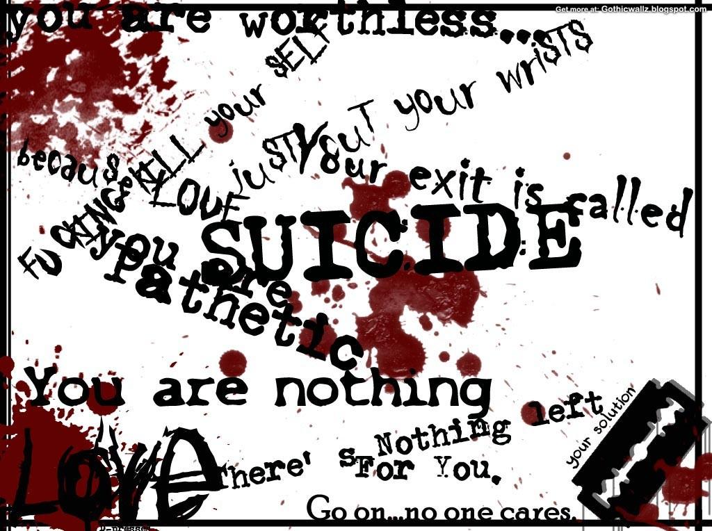 Dark Emo Suicide Quotes: Best Emo Gothic Wallpapers For Desktop Background