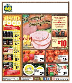 AG Foods Flyer September 24 – 30, 2017