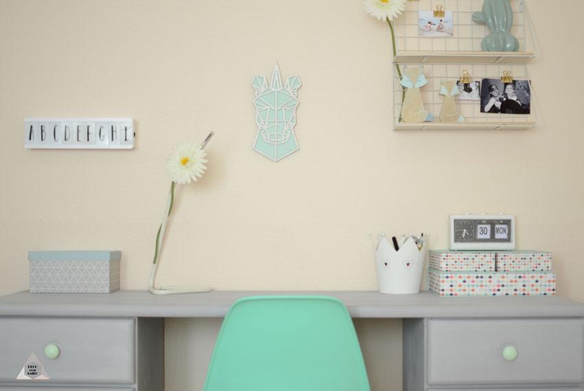 transformación de un escritorio con pintura a la tiza