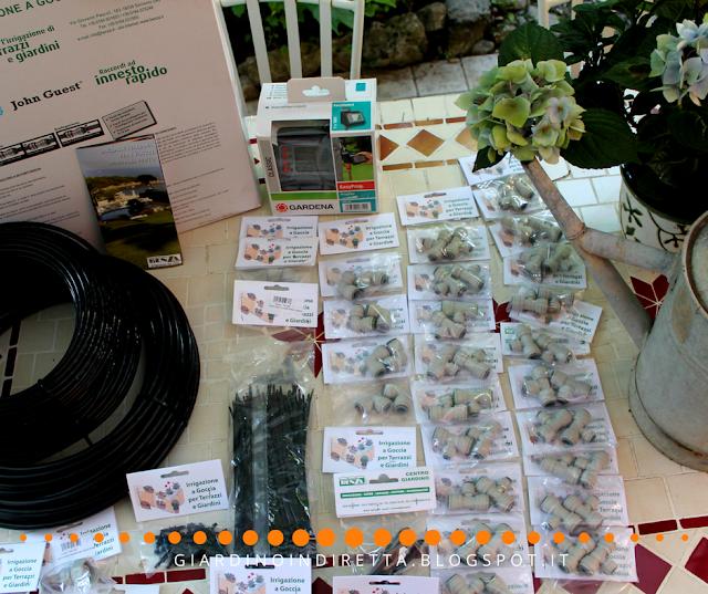 fai da te l'impianto di irrigazione a goccia per il tuo giardino - un giardino in diretta