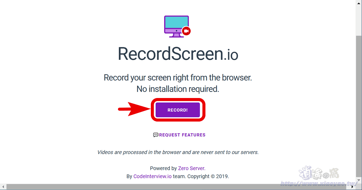 RecordScreen.io 免費網頁版螢幕錄影工具