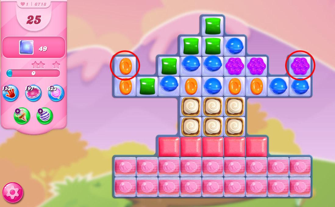 Candy Crush Saga level 6718