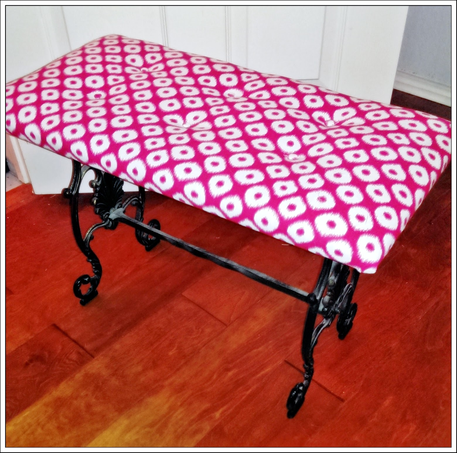 Megmade Creations How to Reupholster Recover Ottoman
