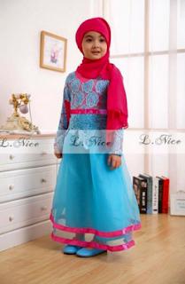 baju lebaran anak perempuan 9 tahun