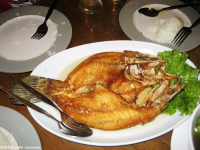 Deep fried white snapper