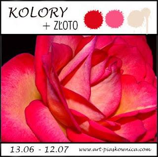 KOLORY: czerwony, rózowy, beżowy + złoto