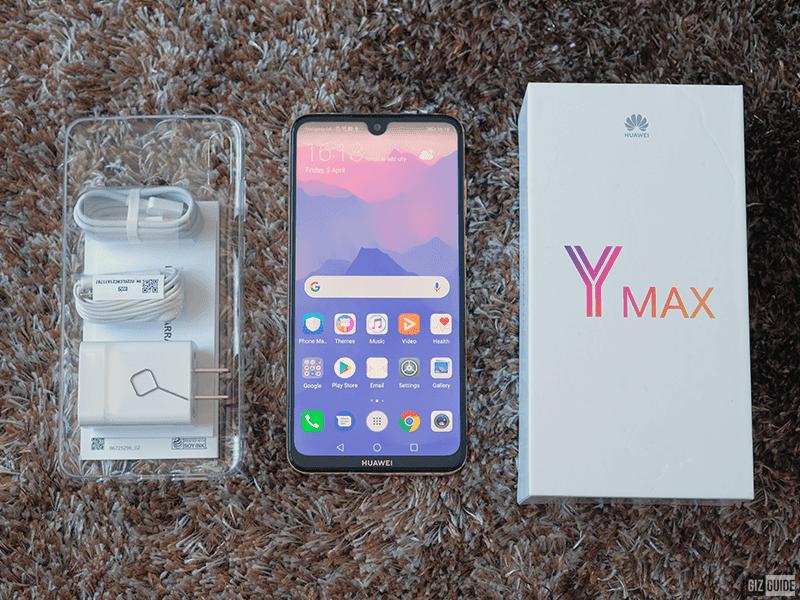 Huawei Y Max box inclusions