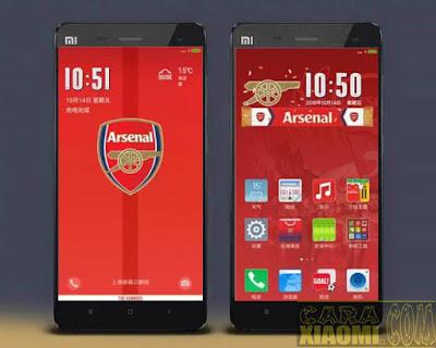Kumpulan Tema MIUI Football klub Arsenal Themes Mtz For Xiaomi