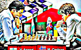 Anand a perdu 3 parties dans son match contre Carlsen  © Chess & Strategy
