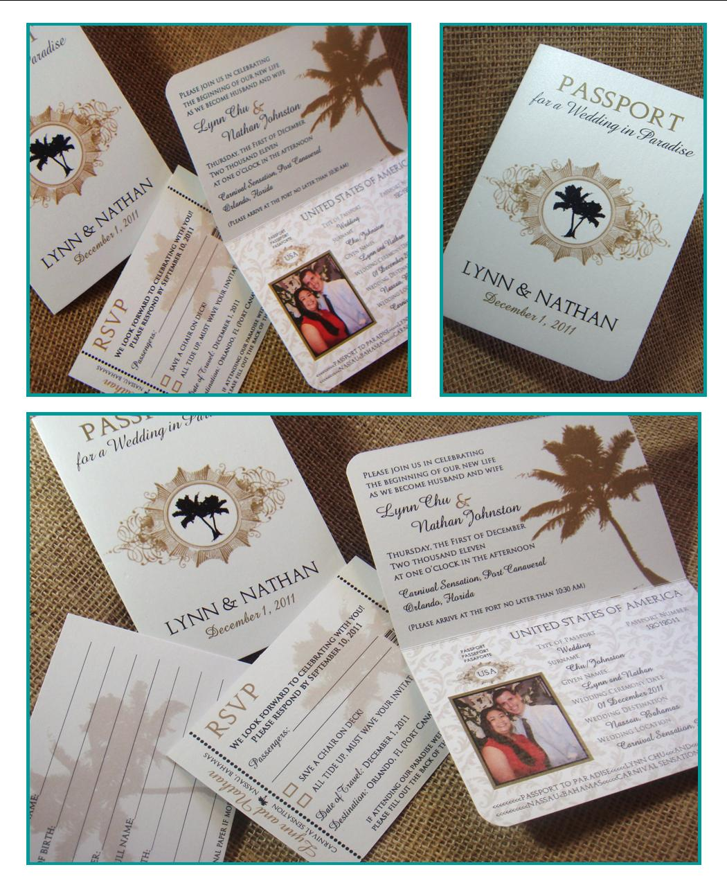 From me 2 you creations chu wedding passport invitations for Passport wedding program template