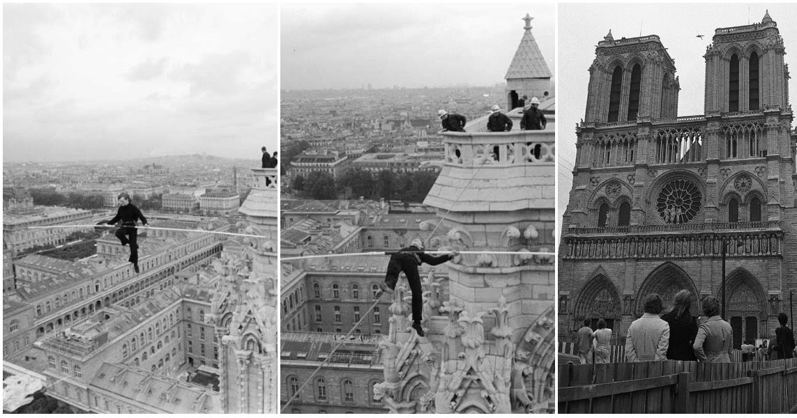 Philippe Petit eiffel tower