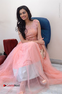 Actress Neha Hinge Stills in Pink Long Dress at Srivalli Teaser Launch  0136.JPG