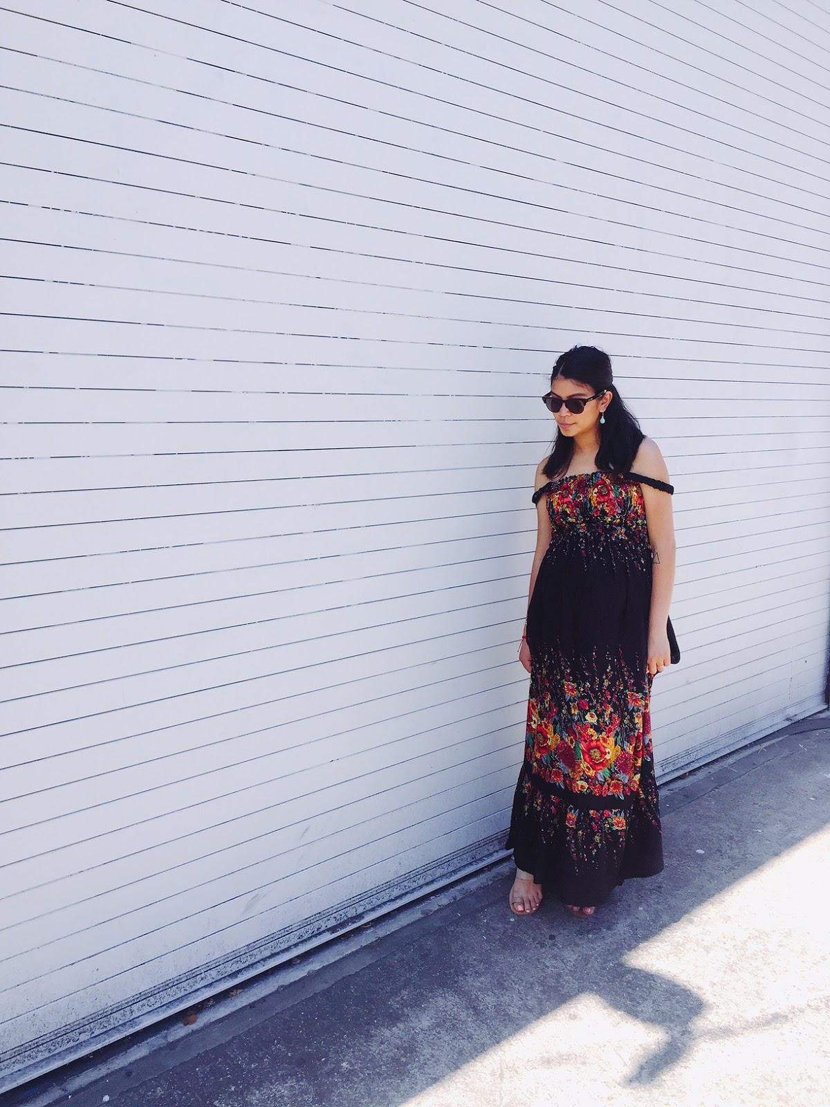 black floral dress, maxi dress, floral, fashion blogger, portland fashion blogger, fblogger, summer 2016, lifestyle blogger, portland fashion,
