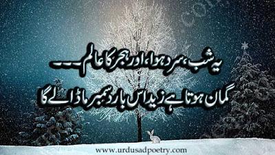 Ye Shub, Sard Hawa Aur Hijr Ka Aalam...
