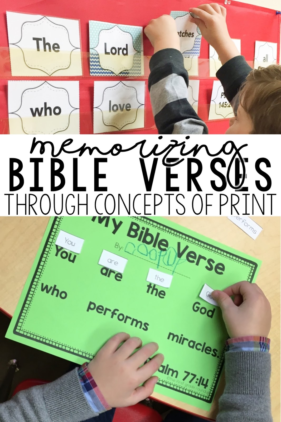 Bible Verse Routines - Firstgraderoundup