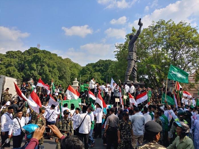 #SaveMadrasah NU Jateng Turun Aksi Tolak FDS si Kampung Jokowi