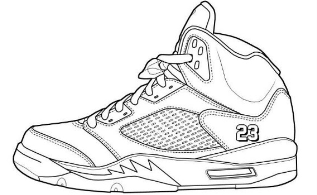 It is a graphic of Amazing Jordan Coloring Page