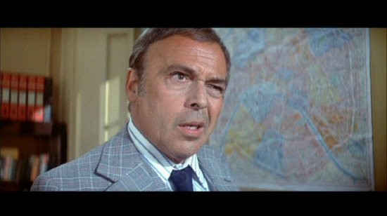 Herbert Lom as eye-twitching Chief Inspector Dreyfus in any number of Pink Panther movies.