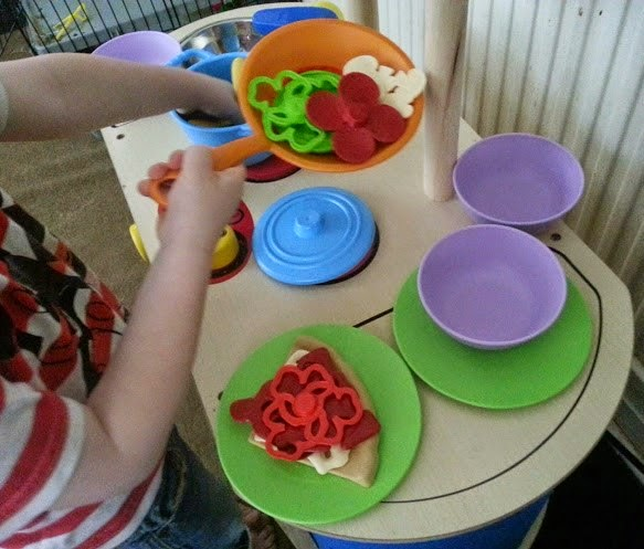 Wonderworld Play Kitchen with Green Toys Food and Equipment