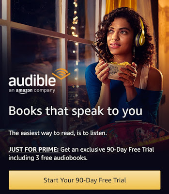 Amazon Audible- Get Free 90 Days Trial Only for Amazon Prime Members (Get Free Audio Books)