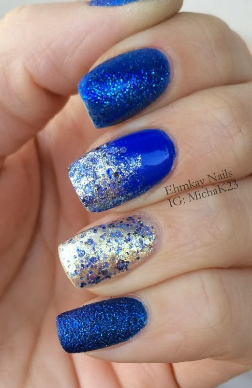 Ehmkay Nails Happy New Year S Eve Nail Art Stamping: Ehmkay Nails: Lapis Blue Skittle Manicure