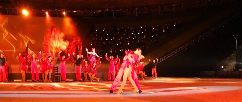 intimissimi on ice opera pop 2014, carolina kostner, stéphane lambiel, arena di verona, pattinaggio sul ghiaccio, palle knudsen, sara hershkowitz